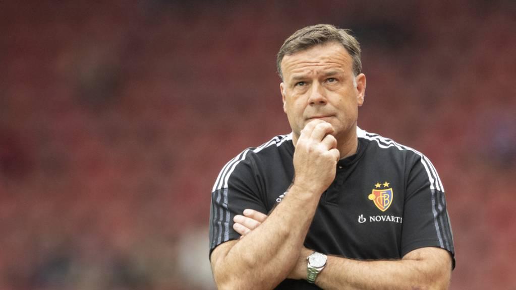 Basels Cheftrainer Patrick Rahmen sollte sich im Match gegen Kairat Almaty nicht den Kopf zerbrechen müssen