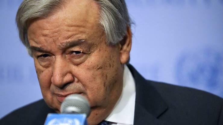 """Uno-Generalsekretär Antonio Guterres hat am Mittwoch (Ortszeit) vor einer """"blutigen Schlacht"""" um die libysche Hauptstadt Tripolis gewarnt."""