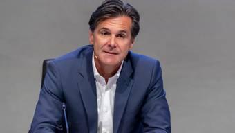 CEO Bernd Stadlwieser an einer Medienkonferenz der MCH Group in Basel, am Freitag, 10. Juli 2020.