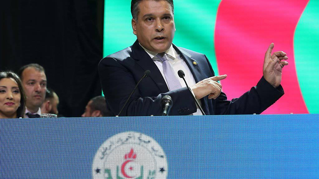 Der algerische Parlamentspräsident  Bouchareb ist nach wochenlangem öffentlichem Druck zurückgetreten.  (Archivbild)