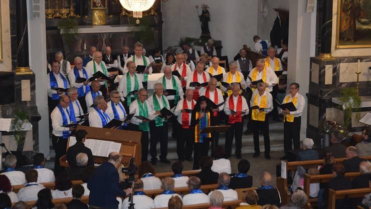 Der Männerchor am Konzert der drei Chöre
