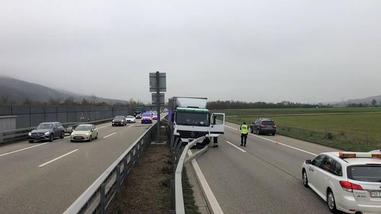 Lastwagen-Unfall auf der A1 bei Oensingen