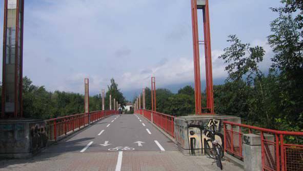 Schützenmatt-Brücke zwischen Solothurn und Zuchwil