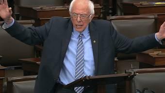 Bernie Sanders,  Präsidentschaftskandidat der Demokraten, ist mit seinem Vorschlag abgeblitzt, die Vorwahlen im US-Bundesstaat Wisconsin wegen des Coronavirus zu verschieben. (Archivbild)