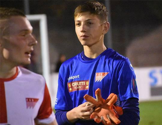 Der 15-jährige Neel Kissling blieb auch in seinem zweiten Spiel ohne Gegentor im Gehäuse des FC Solothurn.