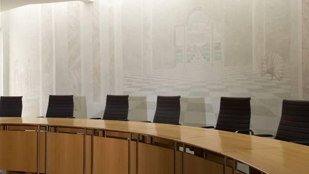 Gerichtssaal im Bezirksgericht Kulm (Archiv)