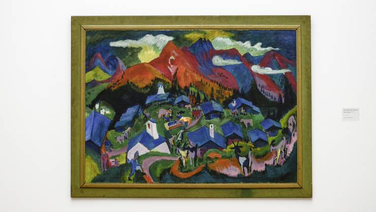 Neu im Kunstmuseum Basel: Ernst Ludwig Kirchners «Stafelalp, Rückkehr der Tiere» (1919). 120,5 x 168 cm; Öl auf Leinwand.