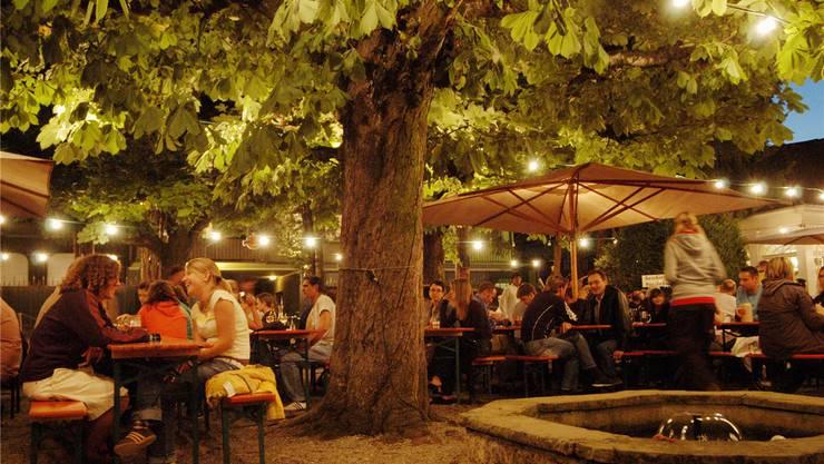 Der Biergarten bietet im Sommer einmal im Monat auch einen Sonntagsbrunch an.