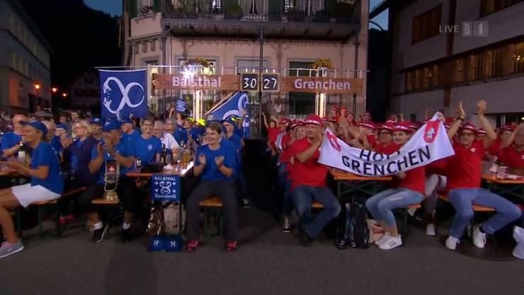 Donnschtig-Jass in Flums: Die Balsthaler und Grenchner Fans