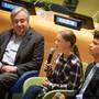 UNO-Generalsekretär Antonio Guterres und Klimaaktivistin Greta Thunberg bei der Eröffnung des Jungendklimagipfels in New York.