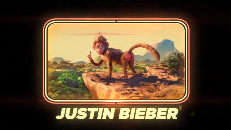 Justin Bieber als Affe