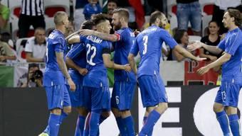 Die Italiener jubeln über den 3:0-Erfolg im Testspiel gegen Uruguay