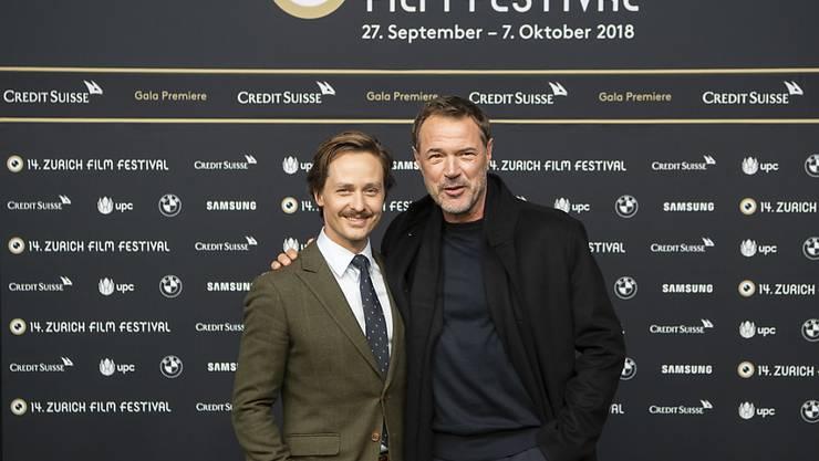 """Sebastian Koch (rechts) und Tom Schilling: """"Hollywood, wir kommen!"""" (Archivbild)"""