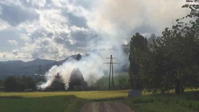 Zeinigen: Brand in Bauernhaus