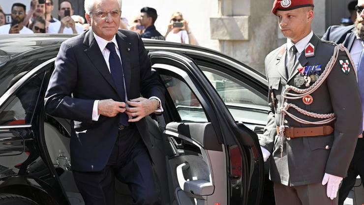 Am Zug: Italiens Staatspräsident Sergio Mattarella.