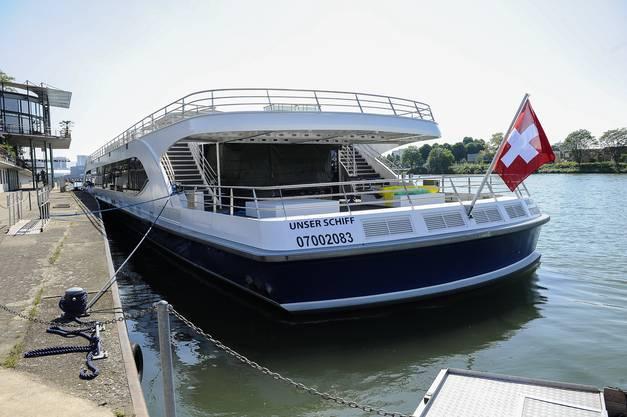 Noch eine Heckansicht: Von hier aus sollen Passagiere Basel bestaunen können.