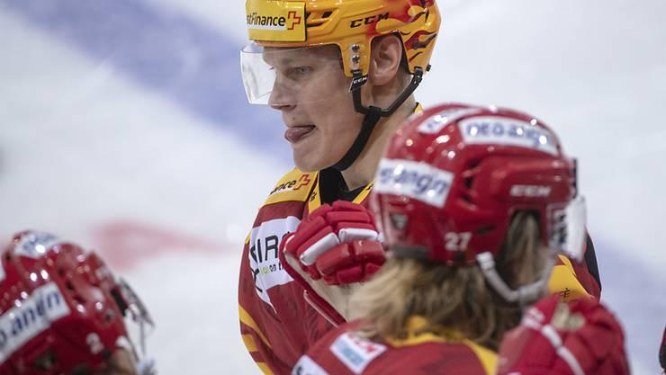 Langnaus Harri Pesonen traf im Schlussdrittel innert 50 Sekunden zweimal