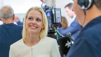 Strahlendes Lächeln: Lilian Studer (EVP) freute sich über ihre Wahl.