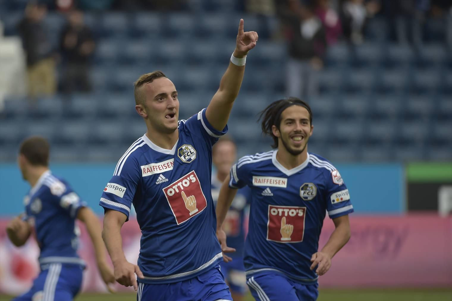 Samed Yesil, von Liverpool an den FC Luzern ausgeliehen, erzielte das 1:0 für den FCL.