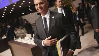 Bundespräsident Didier Burkhalter am Montag in Den Haag