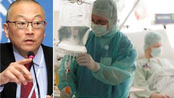WHO-Direktor für Gesundheitssicherheit Keiji Fukuda (r.) warnt vor Antibiotika-resistenten Keimen.