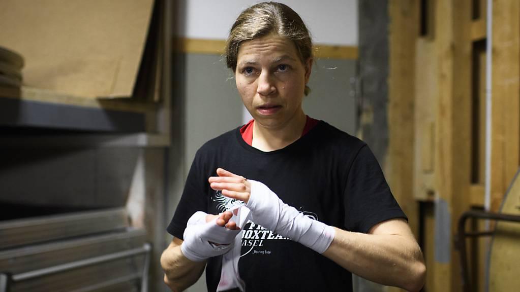 Die Schweizer Top-Amateurboxerin Sandra Brügger (im Bild) wurde an der Frauen-WM in Russland von der finnischen Europameisterin Mira Potkonen in der zweiten Runde vorzeitig gestoppt
