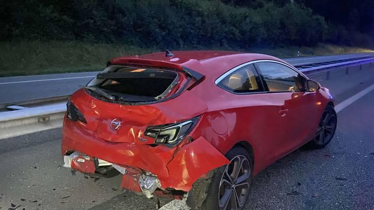 Auf der A1 kam es zu einem Auffahrunfall.