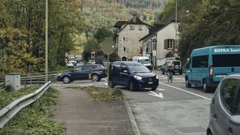 Nadelöhr: Besonders zu Stosszeiten ist das Gebiet Angenstein sehr stark befahren.