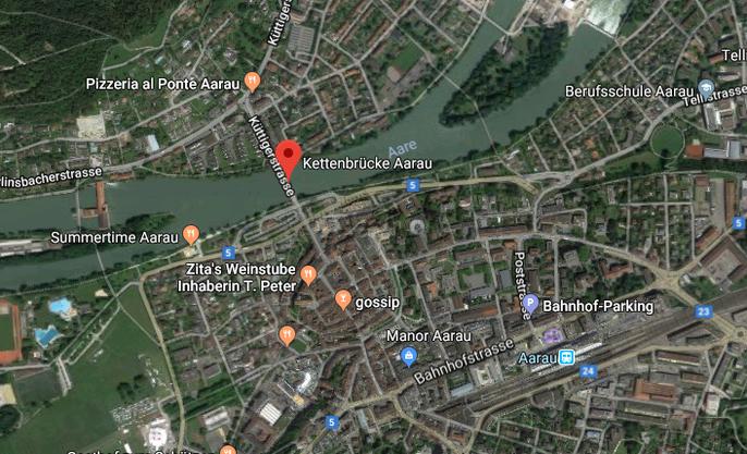 Standort Kettenbrücke: Hier befindet sich der künftige Pont Neuf.