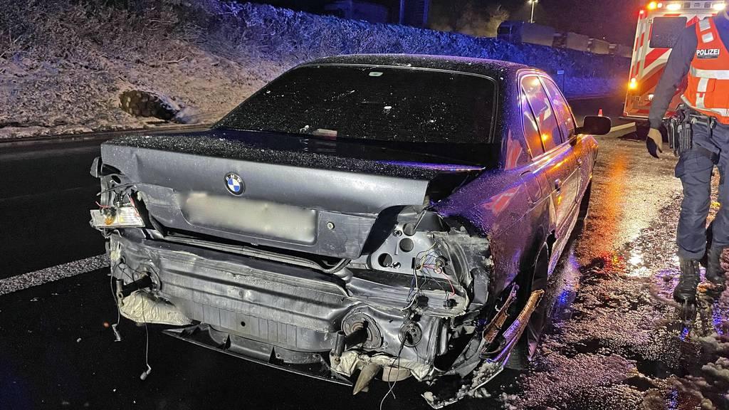 Selbstunfall am frühen Morgen auf der A2 – keine Verletzten
