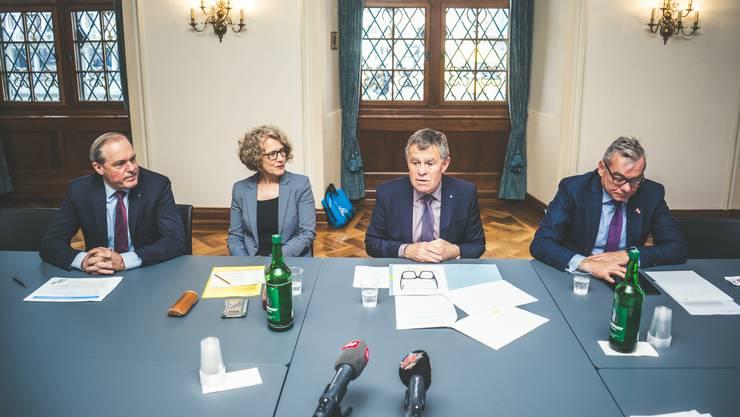 Ungewohnter Schulterschluss: Zürichs Stadtpräsidentin Corine Mauch (SP) und Regierungsrat Ernst Stocker (SVP).