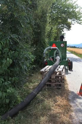 Eine Flusswasserpumpstation zur Entnahme von Dünnernwasser im Gäu.
