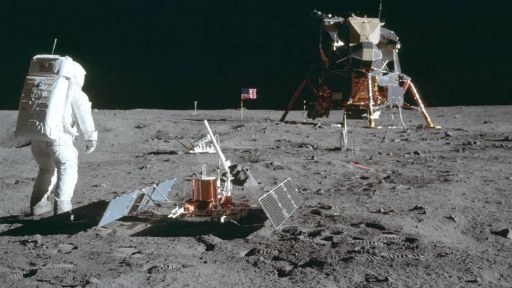 Astronaut Buzz Aldrin auf dem Mond am 21. Juli 1969.