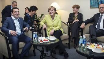"""Gute Nacht"": Tsipras, Merkel und Hollande in Riga"