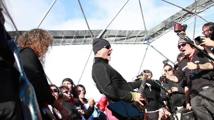 Lead-Sänger James Hetfield liess die Thermowäsche nicht zu Hause