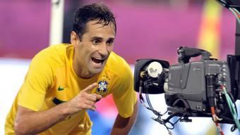 Feiert das 1:0 für Brasilien: Torschütze Jonas