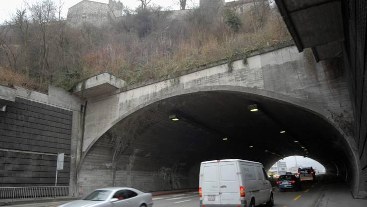 Der Schlossbergtunnel in Baden.