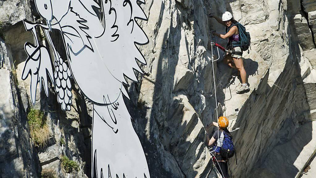 """Auf dem Klettersteig """"La Farinetta"""" im Wallis kam es am Sonntag zu einem tödlichen Unfall. (Archivbild)"""