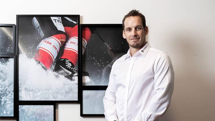 Patrick Fischer im Verbandssitz von Swiss Icehockey in Glattbrugg.