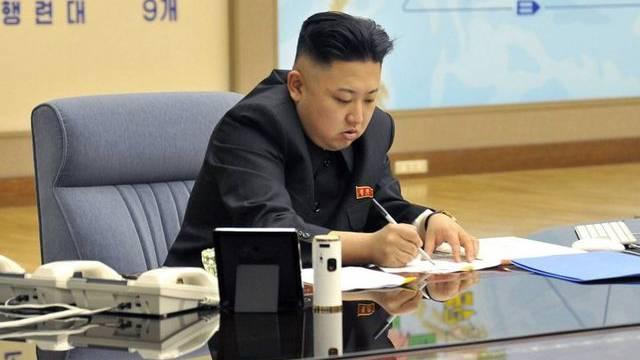 Nordkoreas Machthaber Kim Jong Un gibt grünes Licht für einen Atomkrieg (Archiv)
