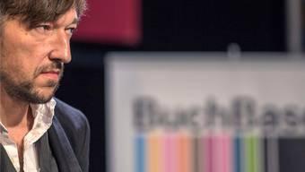 Lukas Bärfuss an der Verleihung des Schweizer Buchpreises 2014.