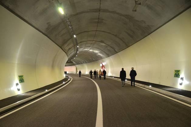 Noch ist es ein Tunnel ohne Fahrzeuge.