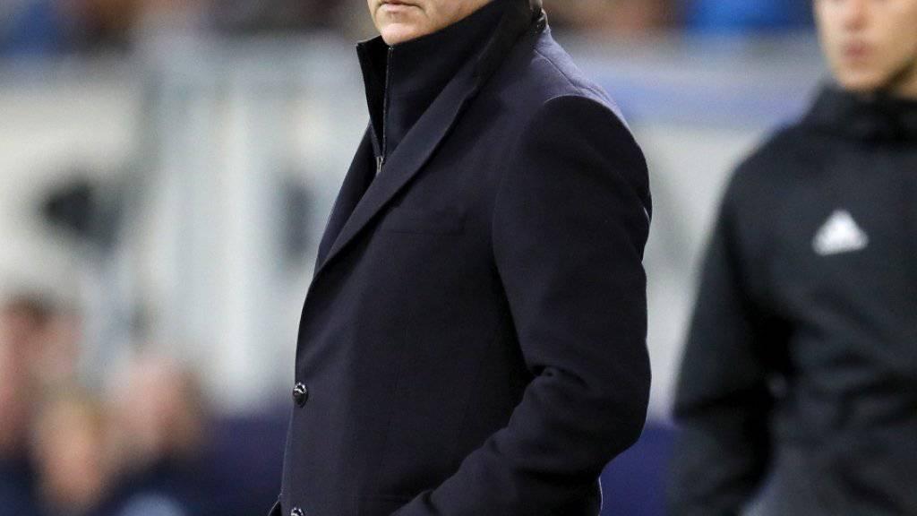 Bruno Génésio strebt mit Lyon den Achtelfinal an