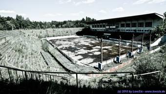 Das Wilhelm-Piel-Eisstadion in Weisswasser.