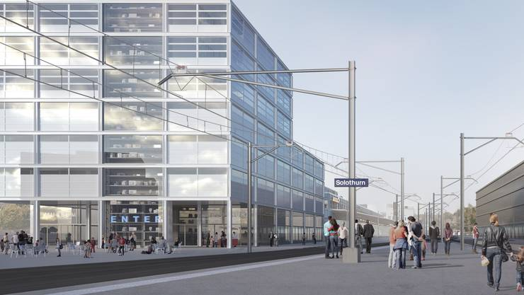 Die Visualisierung des Plan A: So sähe dies aus, wenn das Museum Enter in einen Neubau am Bahnhof käme.