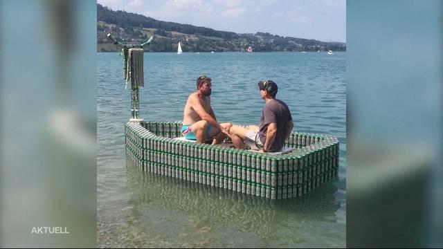 Mission Bierboot: Aus 2`000 Bierdosen ein Boot erschaffen