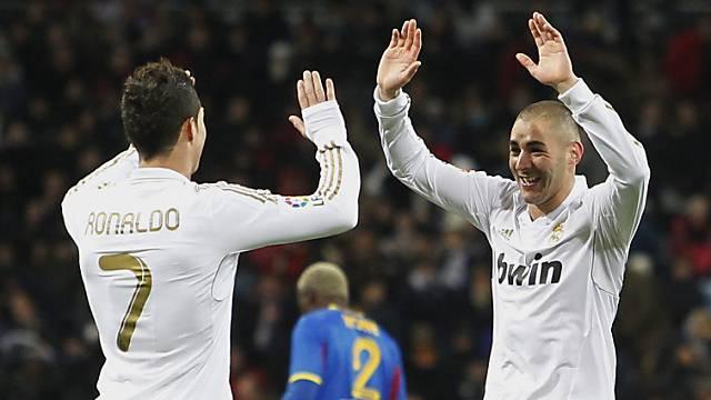 Real-Torschützen unter sich: Benzema (rechts) und Ronaldo