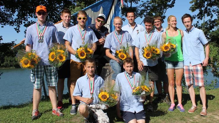 Die jungen Rupperswiler Wasserfahrer gewannen 5 Kranzauszeichnungen und wurden im Vereinsklassement 10.