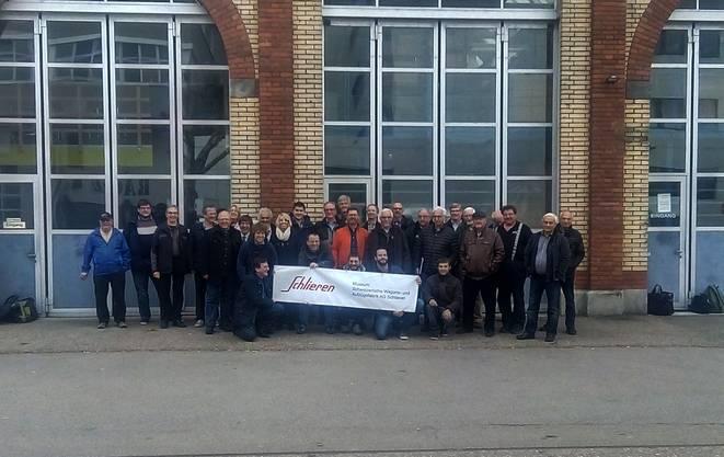Über 30 Vertreter der Bündner Bahnkultur nahmen am Workshop im Wagi-Museum teil. Bild ©ZVG