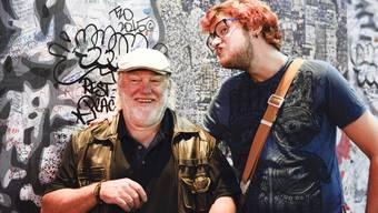 Künstler Santhori (links) und Kreativdirektor Dominik Minet in New York City.